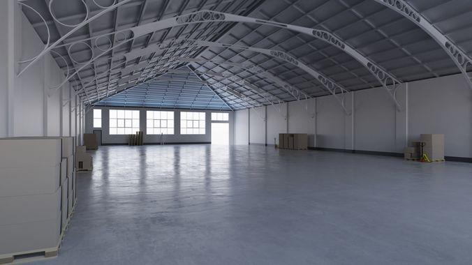 Warehouse Interior 7 3d Model Low Poly Obj Mtl 3ds Fbx Blend Tga 1 ...