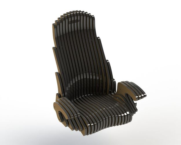 Genial Custom Office Chair 3d Model Dxf Stl Sldprt Sldasm Slddrw Ige Igs Iges 1 ...