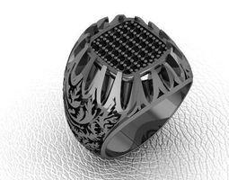 fashion man ring jewelry 8 3D print model