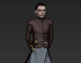 Arya Stark Game of Thrones ready for full color 3D