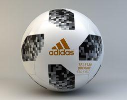 3D model Adidas Telstar 18