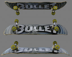 Skateboard Rigged 3D Model