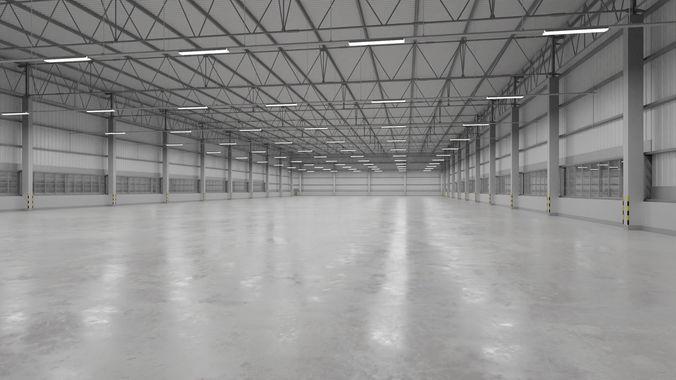 warehouse interior 9 3d model low-poly obj mtl 3ds fbx blend tga 1