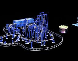 3D model Amusement park facilities