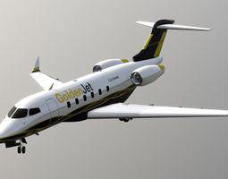 3D model Bombardier Challenger 300 Aircraft Jet Plane