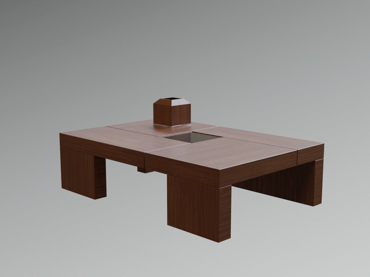 Japanese Coffee Table.Zen Japanese Modern Wooden Coffee Table Lowpoly 3d Model
