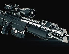 COD Bo2 DSR 50 sniper high poly 3D