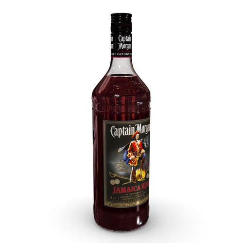 captain morgan jamaica rum 1l bottle 3d model max obj mtl 3ds fbx c4d ma mb 1
