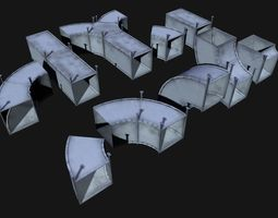 ventilation set low poly 3D model