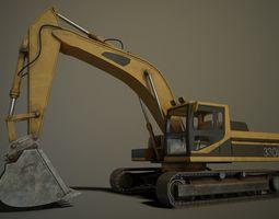 3D asset Hydraulic Excavator