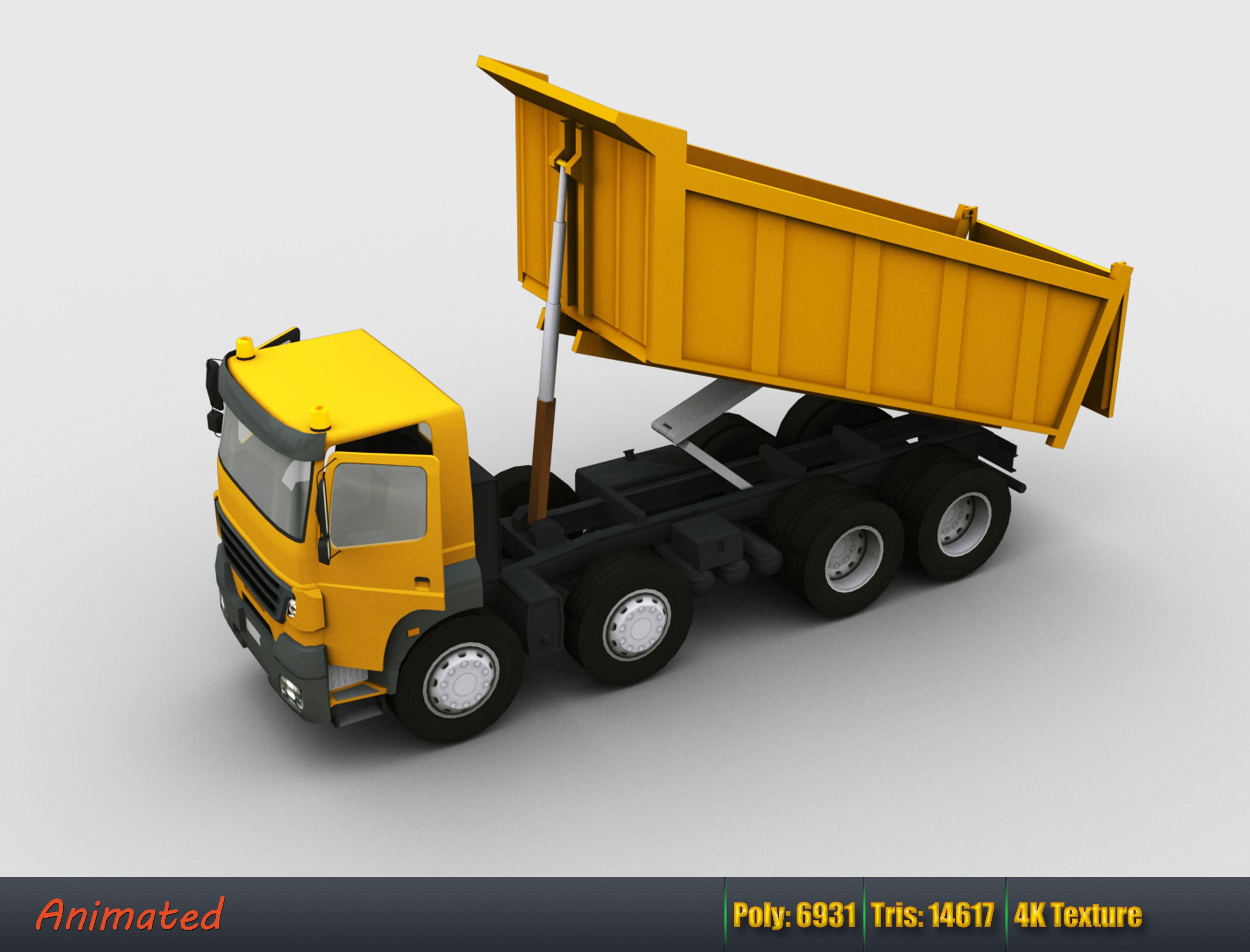 Lowpoly Dumper Truck