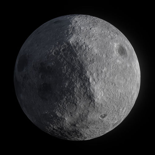 low poly moon 3d model fbx ma mb 1