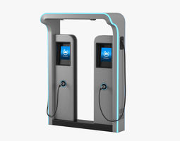 Electric Vehicle Charging Station 3 3D
