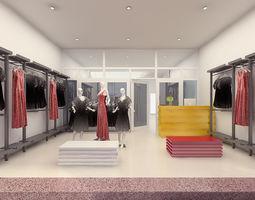 3D model Fashion Shop Interior