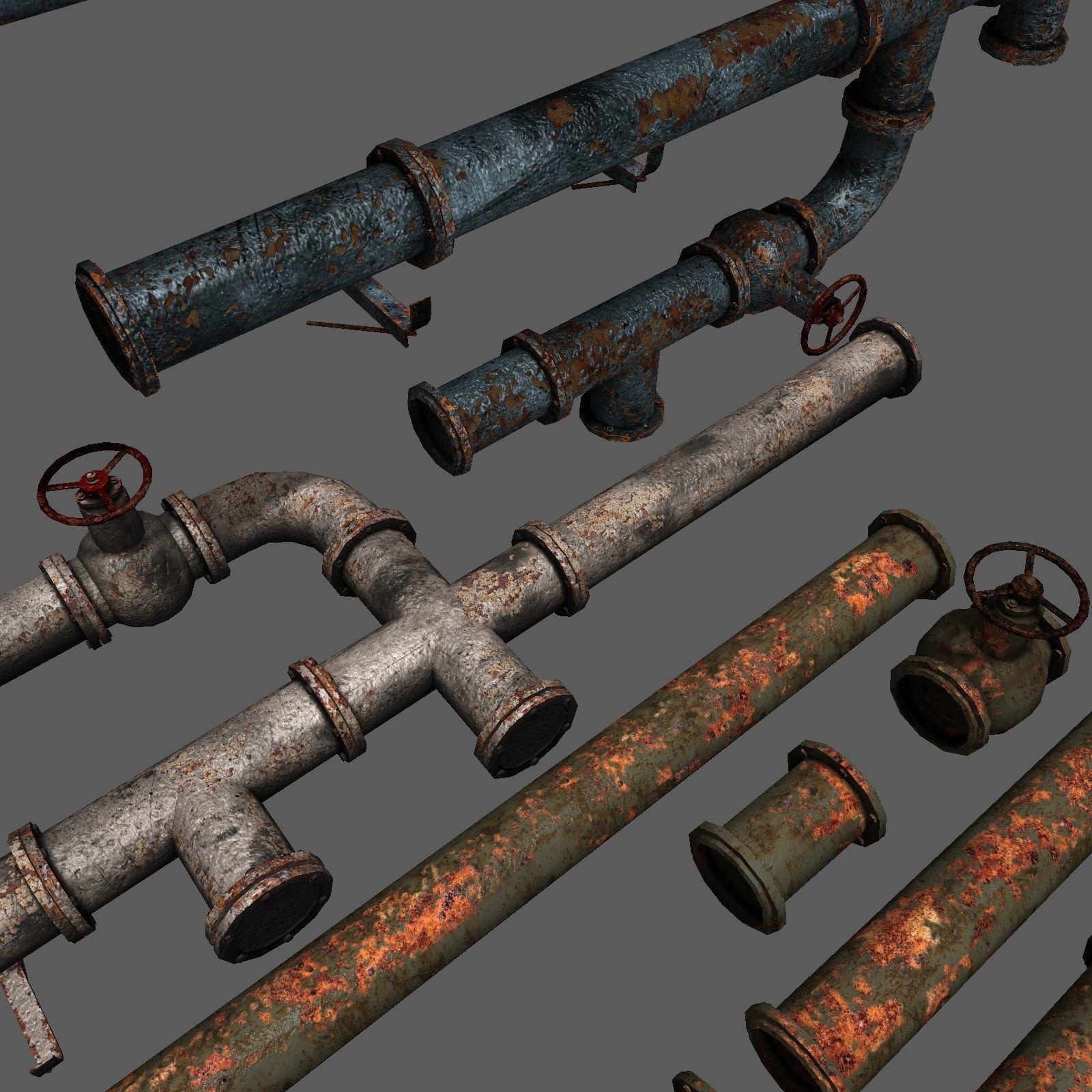 Metal Pipes Set 2