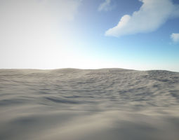 Seamless TerrainScapes - SandDunes 3D model VR / AR ready