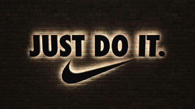 logo sign nike just do it 3d 3d model low poly max obj 3ds