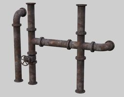 Industrial Pipes 1A 3D model