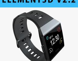 E3D - Fitbit Ionic Charcoal 3D model