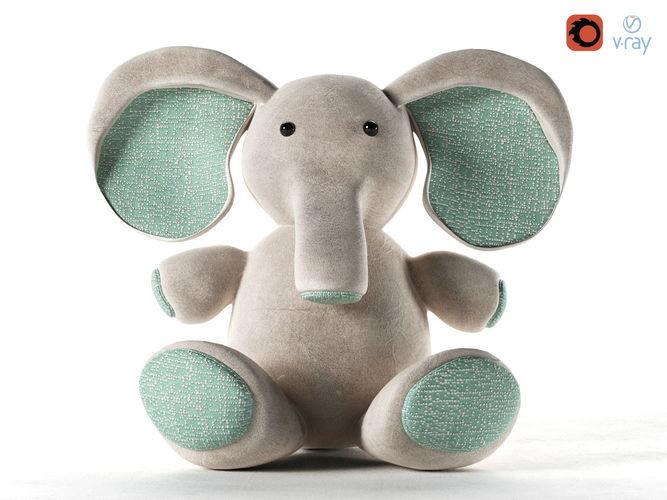 elephant toy 3d model max obj mtl 1