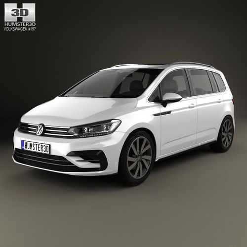 2016 volkswagen touran r line 2015 3d cgtrader. Black Bedroom Furniture Sets. Home Design Ideas