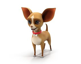 3D model Cartoon dog chihuahua