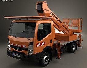 3D Nissan Cabstar Lift Platform Truck 2006