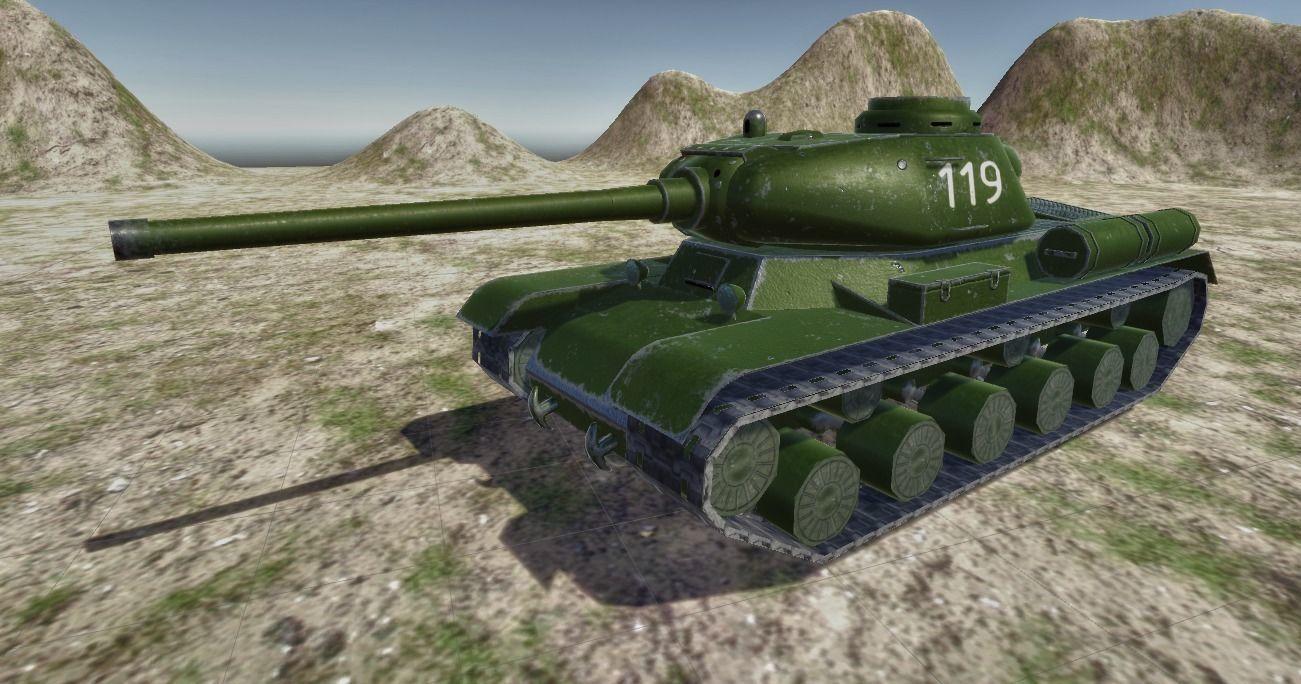 Soviet tank IS-1 | 3D model