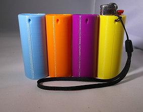 Bic lighter holder key chain or lanyard 3D print model 3