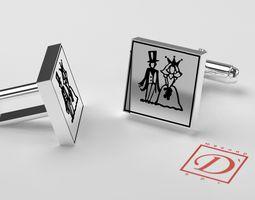 Cufflinks Mens 3D print model
