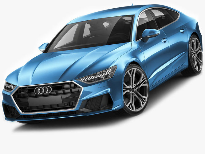 3d audi a7 sportback s line 2018 cgtrader. Black Bedroom Furniture Sets. Home Design Ideas