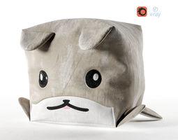 3D asset Pouf Dog Cube