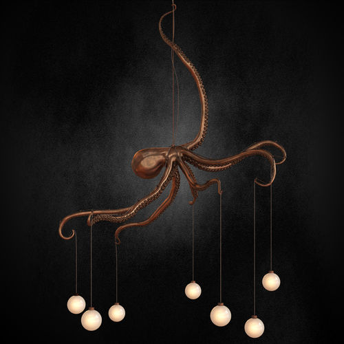 3d Model Octopus Chandelier Cgtrader