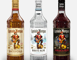 Captain Morgan Bottle Set 3D model