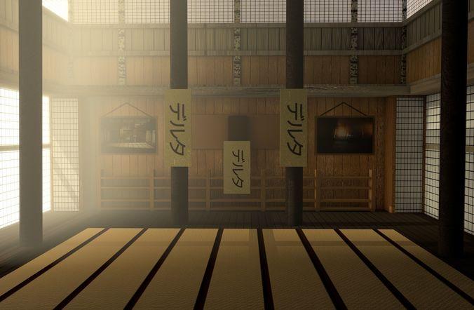 Japanese Training Dojo 3d Asset Cgtrader