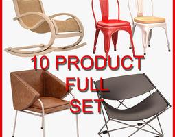 3D model Chair Set 004 10 Product