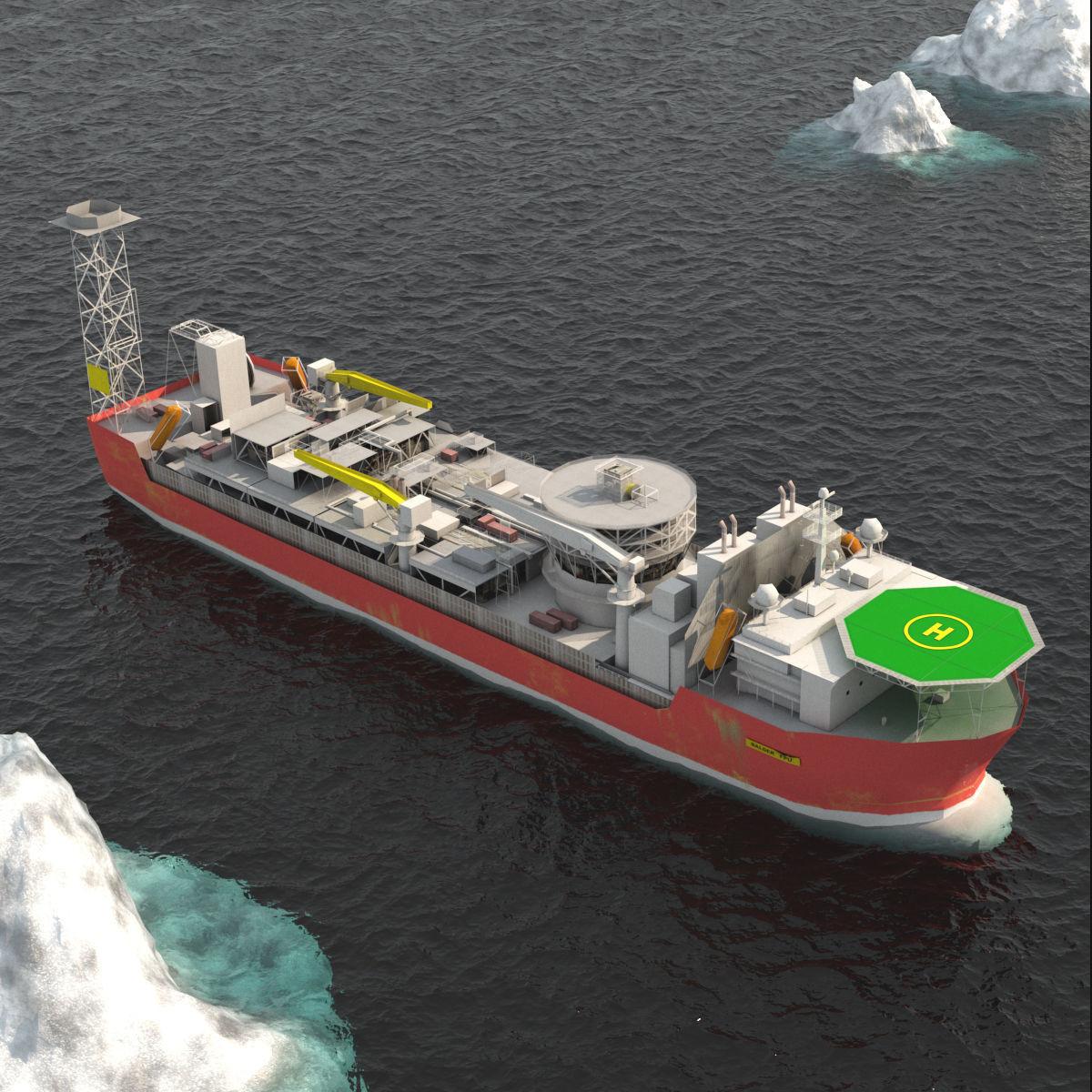 FPSO Balder Offshore Oil Rig   3D model