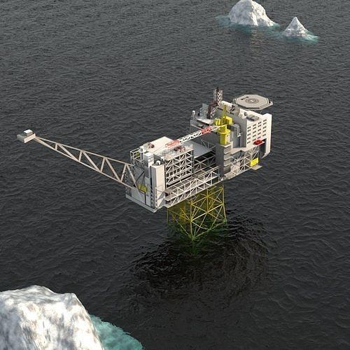 ivar aasen offshore oil platform 3d model max obj mtl fbx 1
