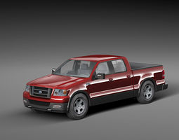 3D model F150 Extended Cab