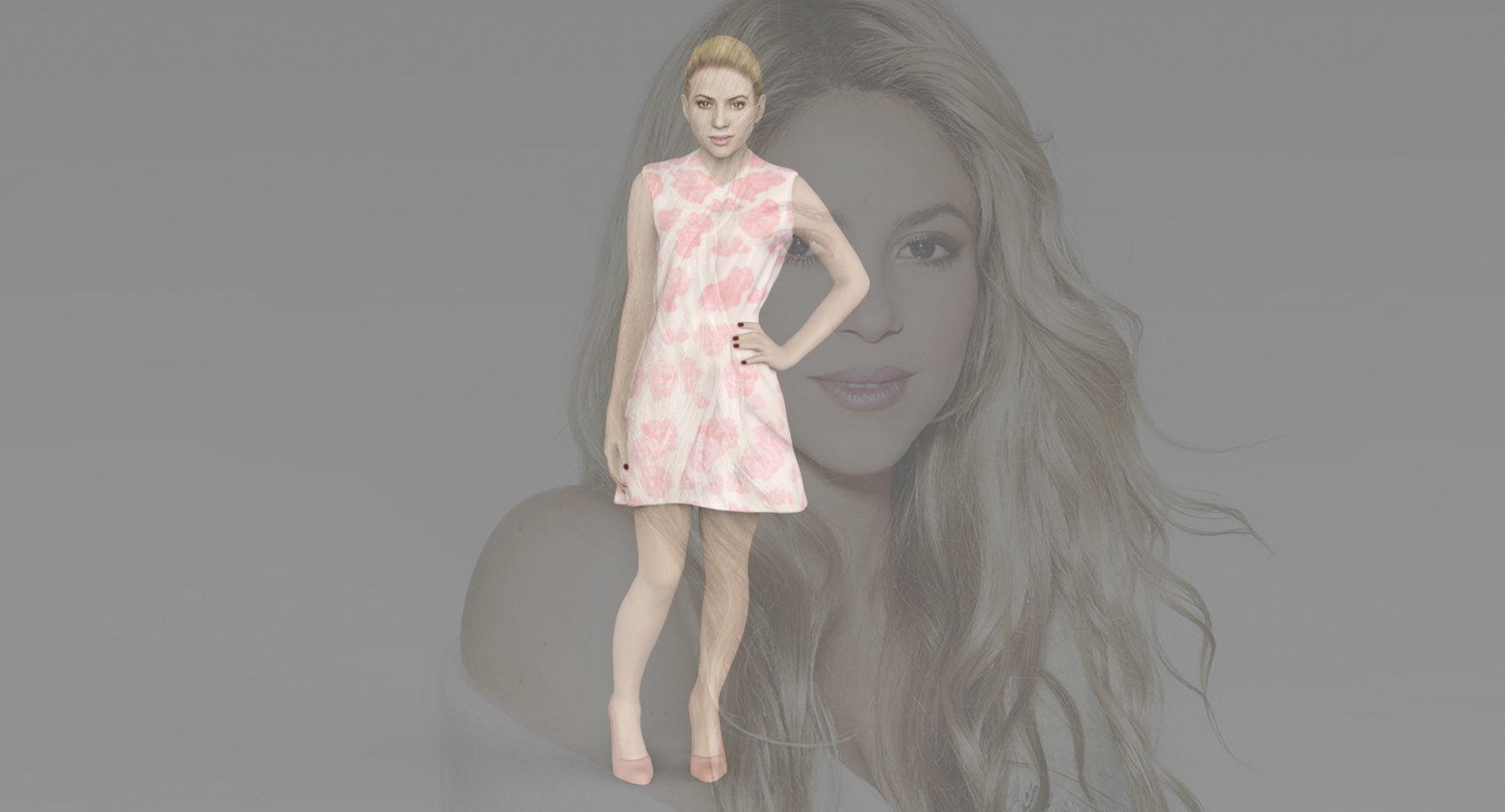 Shakira ready for full color 3D printing