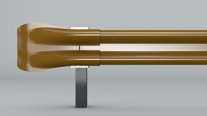 guard rail 3d model obj 3ds c4d mtl 1