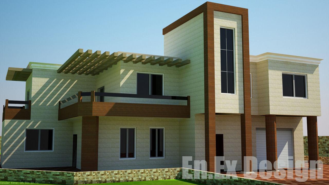Modern Villa House 3d Model – Fondos de Pantalla