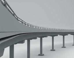 Beam Bridge 3D asset