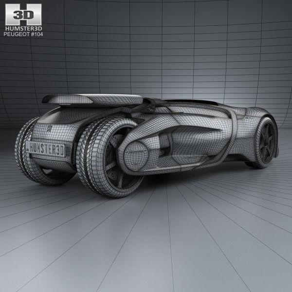 ... Peugeot Ex1 2010 3d Model Max Obj 3ds Fbx C4d Lwo Lw Lws 4 ...