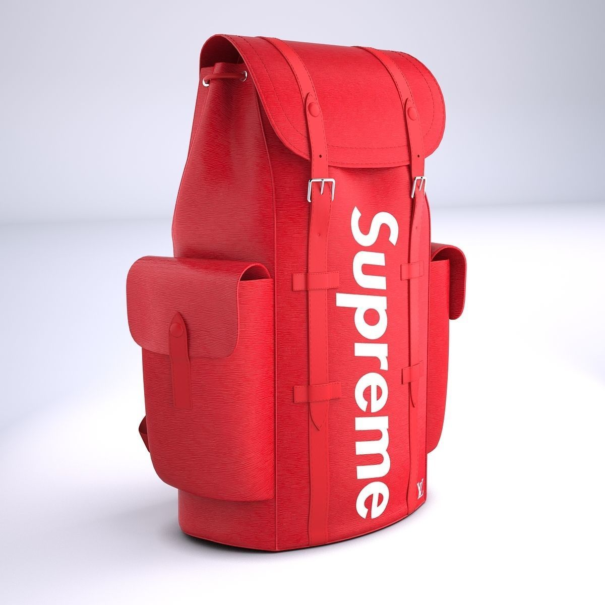 84ab2ee18430 supreme louis vuitton bag christopher backpack pm 3d model low-poly max obj  mtl 3ds
