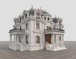 3D model manor Classic Villa