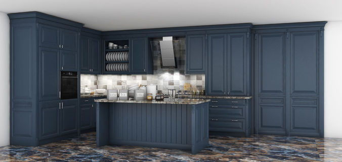Classic Kitchen Cabinet   3D model