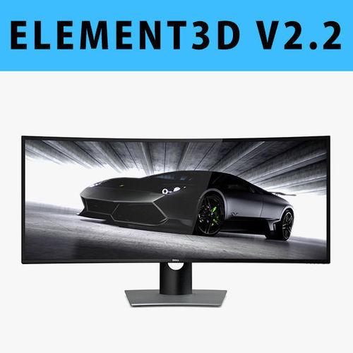 e3d - dell ultrasharp 38 curved monitor u3818dw 3d model 3d model max obj mtl c4d 1
