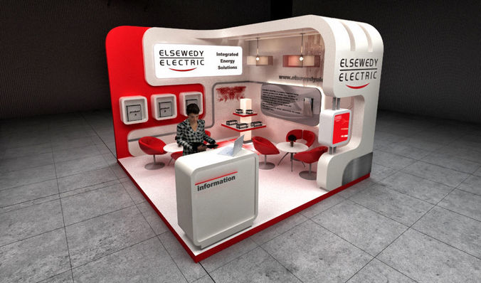 exhibition stand 3d model max 1