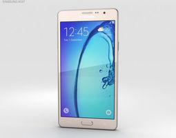 Samsung Galaxy On7 Gold 3D